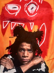 Basquiat by Nick Holdsworth - Mixed Media on Board sized 32x43 inches. Available from Whitewall Galleries
